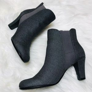 A2 Aerosoles Gray Ankle Boots 8.5